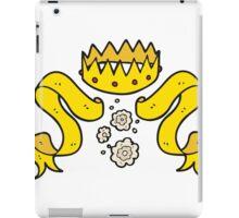 cartoon crown and scroll iPad Case/Skin