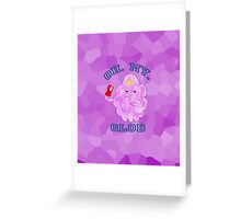 """LSP, Watercolours. """"Oh. My. Glob."""" Greeting Card"""