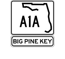A1A - Big Pine Key Photographic Print