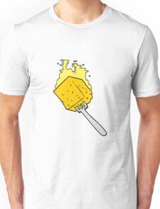cartoon cheese on fork Unisex T-Shirt