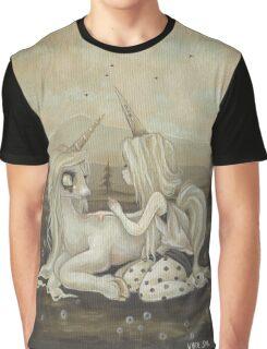 Willow and Wren Unicorn painting Graphic T-Shirt