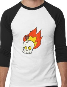 cartoon skull with arrow Men's Baseball ¾ T-Shirt