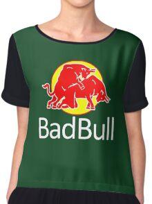 funny bad animal bull Chiffon Top