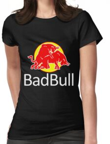 funny bad animal bull Womens Fitted T-Shirt