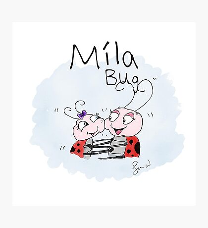 Mila Bug The Little Ladybird - Big Hugs Photographic Print