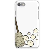 cartoon sweeping brush iPhone Case/Skin