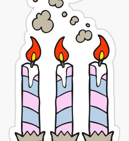 cartoon birthday cake candles Sticker