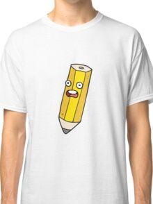 happy cartoon pencil Classic T-Shirt