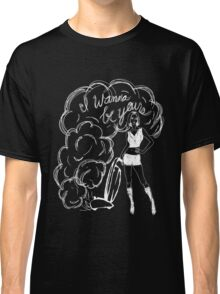 I Wanna Be Yours- White Print Classic T-Shirt