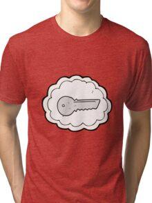 cartoon door key Tri-blend T-Shirt