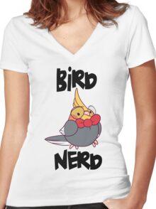 Bird Nerd Women's Fitted V-Neck T-Shirt