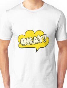 cartoon okay symbol Unisex T-Shirt