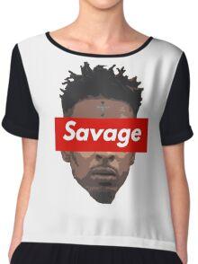 21 Savage  Chiffon Top