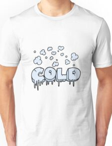 cartoon cold text symbol Unisex T-Shirt
