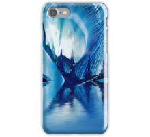 Subterranean Castles wax painting in blue iPhone Case/Skin