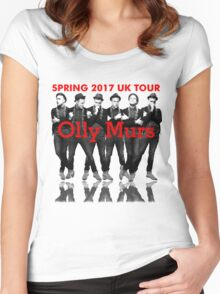 OLLY MURS SPRING 2017 UK TOUR Women's Fitted Scoop T-Shirt