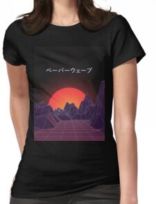 Vaporwave Retro Womens Fitted T-Shirt