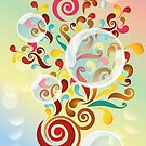 Explosion of colors - illustration of colorful shapes and bubbles by schtroumpf2510