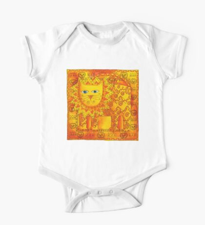 Patterned Lion One Piece - Short Sleeve
