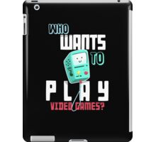 Adventure Time With Finn And Jake BMO Play Video Games? T-shirt iPad Case/Skin