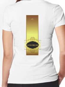 Gold Rush Women's Fitted V-Neck T-Shirt