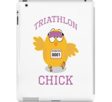 Funny Triathlon Chick iPad Case/Skin
