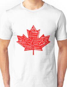 Canada Flag - Canadian Slang - Eh! Unisex T-Shirt