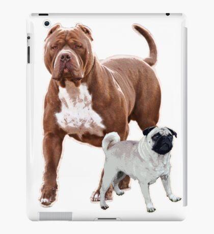 Pit bull pug 2 iPad Case/Skin