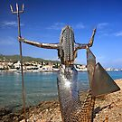 The Iron Mermaid of Spetses island by Hercules Milas
