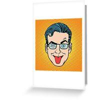Retro Emoji tongue Greeting Card