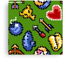Legend of Zelda A Link to the Past / items / pattern / green hat Canvas Print