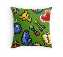 Legend of Zelda A Link to the Past / items / pattern / green hat Throw Pillow
