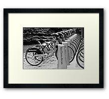 Bixi bikes Framed Print
