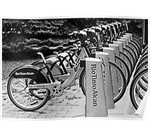 Bixi bikes Poster