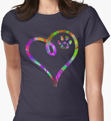 always in my heart Womens Fitted T-Shirt