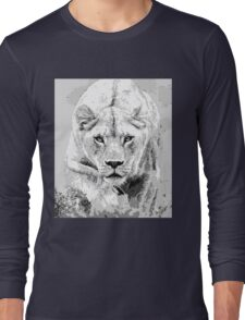 Lioness Pixel Art Long Sleeve T-Shirt