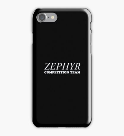 Zephyr Competition Shirt (Their First Competition) iPhone Case/Skin