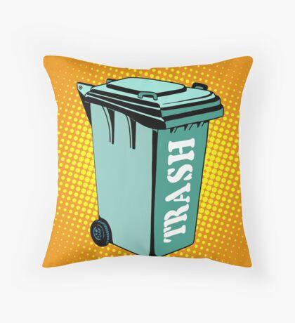 Trash ecology recycling tank Throw Pillow