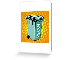Trash ecology recycling tank Greeting Card