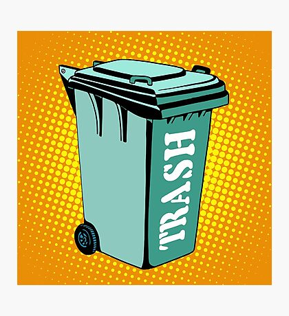 Trash ecology recycling tank Photographic Print