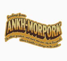 Greetings from Ankh-Morpork (sticker) by Olipop