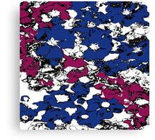 Blue and Red Flowers Canvas Print