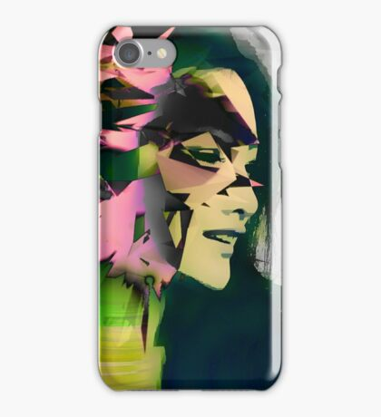Asian model abstract art iPhone Case/Skin