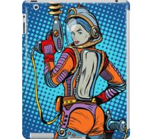 Girl space marine science fiction retro iPad Case/Skin