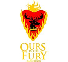 Game of Thrones - Baratheon House (Stannis) - Ours is the Fury Photographic Print