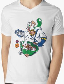 Groovy-Os Cereal (sticker) Mens V-Neck T-Shirt