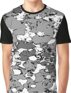 Grey Flowers Graphic T-Shirt