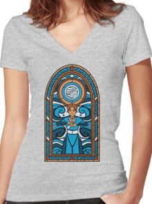 4 elements Bender Women's Fitted V-Neck T-Shirt