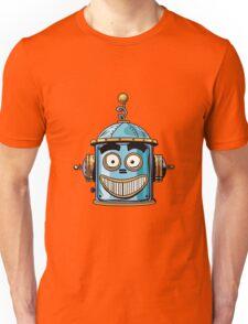 emoticon happy emoji robot head smiley emotion Unisex T-Shirt