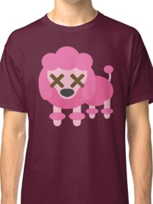Pink Poodle Dog Emoji Fainted and Knock Out Look Classic T-Shirt